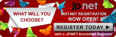 What will you choose? .JP.NET instant registration now open! Register today with a .JP.NET Accredited Registrar